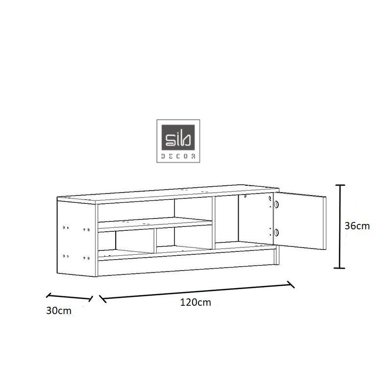 Kích thước chi tiết của kệ tivi TV43