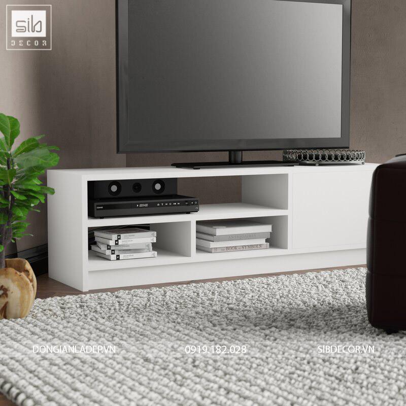 Kệ tivi đơn giản TV42 với thiết kế đóng mở đơn giản