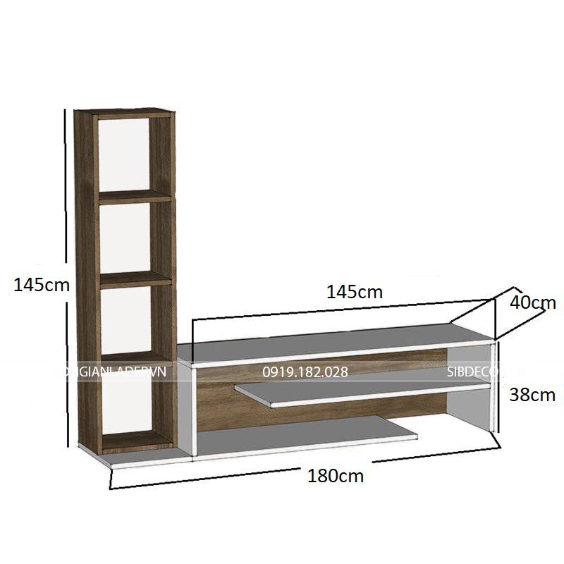 Kích thước kệ tivi hiện đại cho phòng khách TV50