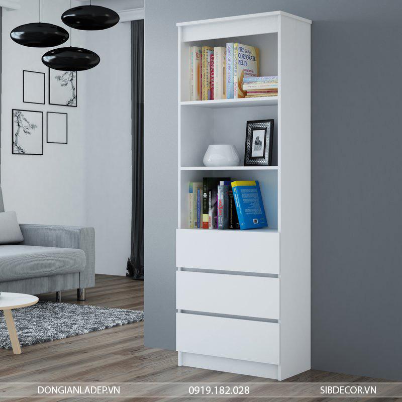 Tủ sách để để ở bất kỳ đâu trong căn hộ, không riêng gì chỉ phòng làm việc.