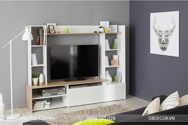 Với phòng khách, chỉ cần 1 bộ kệ tủ tivi TV59 là đủ rồi.