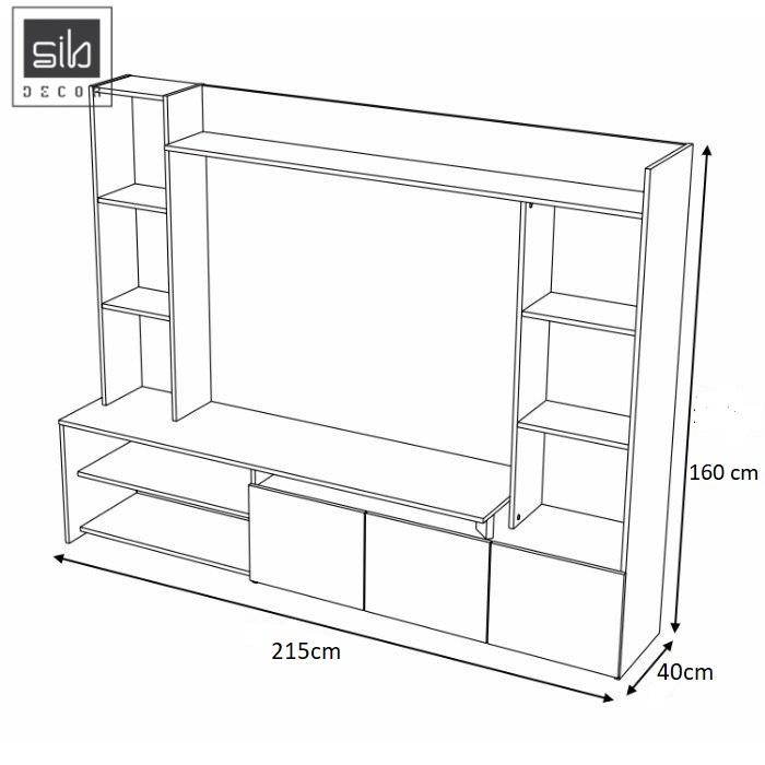 Kích thước kệ tủ tivi TV59