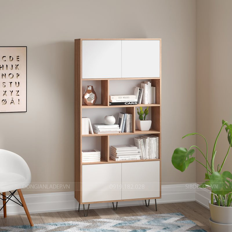 Chiếc tủ sách đẹp tinh tế cho căn phòng