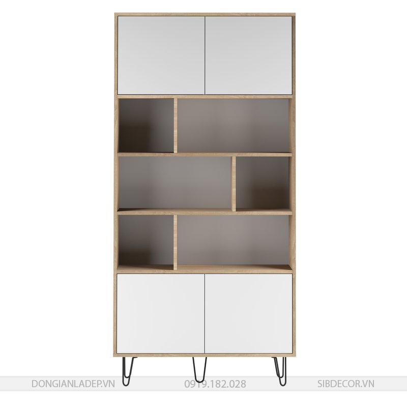 Tủ sách đơn giản, đẹp, thích hợp cho phòng khách, phòng làm việc.