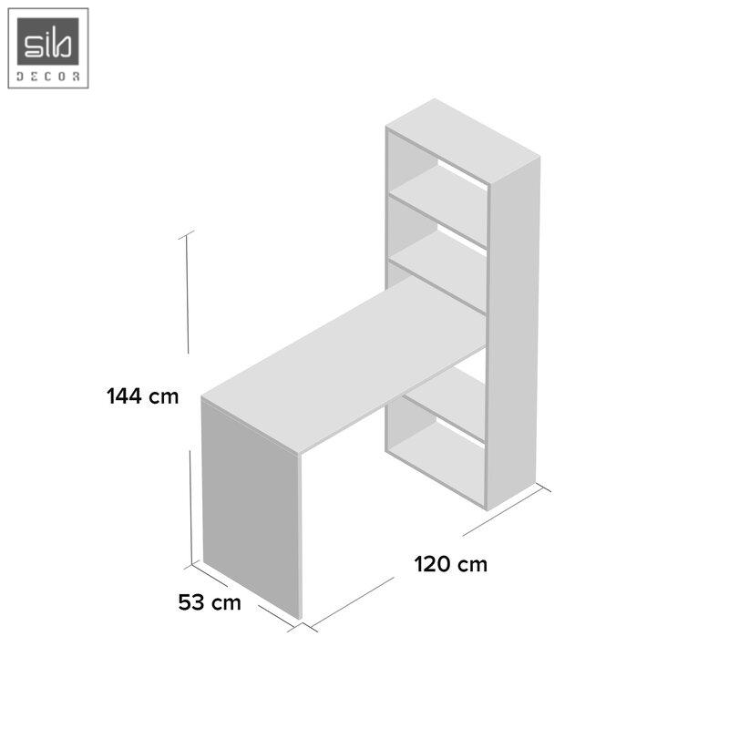 Kích thước bàn làm việc liền kệ sách BLV22
