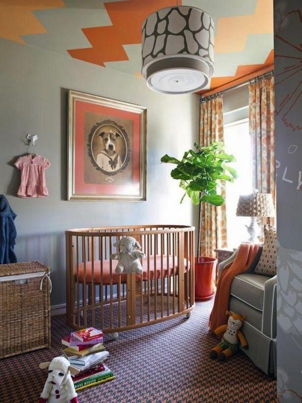 Trần nhà ziczac nhiều màu sắc cho không gian phòng thêm độc đáo