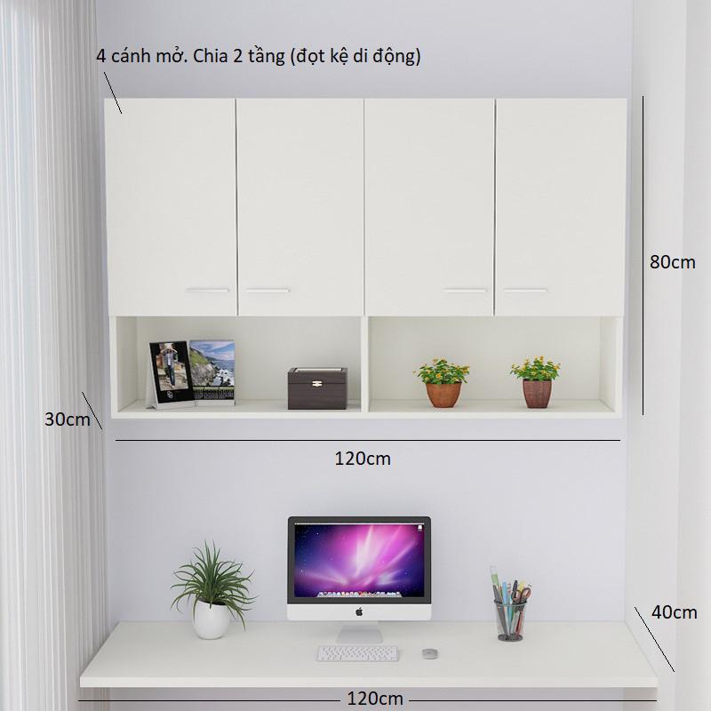 Tủ sách thiết kế hiện đại, tối ưu công năng sử dụng.