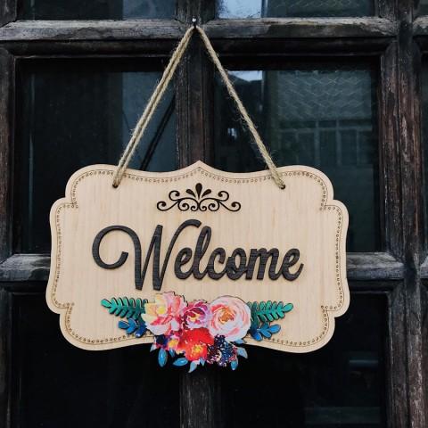 Bảng treo Welcome độc đáo
