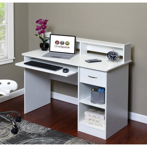 Bàn làm việc máy tính PC màu trắng