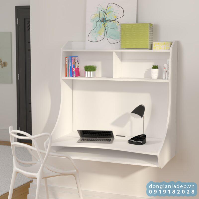 Bộ bàn treo tường với những đường nét uốn cong thẩm mỹ