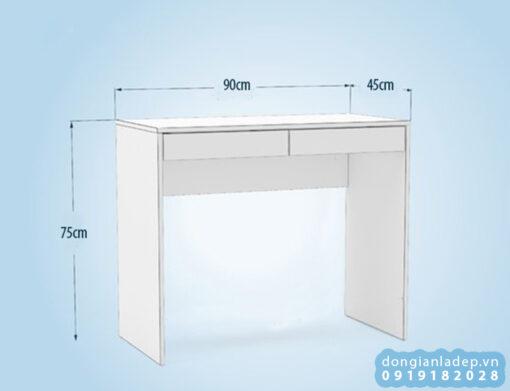 Kích thước bàn làm việc đơn giản BLV45