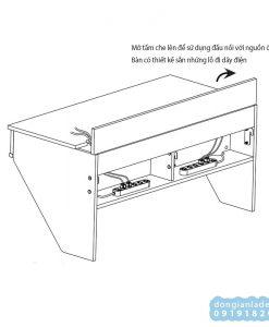 Thiết kế bàn làm việc treo tường BT51