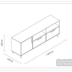 Kích thước kệ tivi để sàn phòng khách TV72