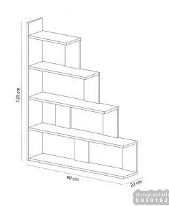 Kích thước kệ sách 5 tầng đơn giản KS303