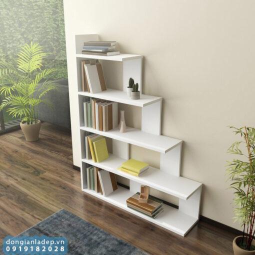 Kệ thiết kế 5 tầng dạng bậc thang cách điệu
