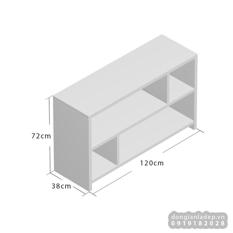 Kích thước của kệ tivi đơn giản đứng TV71