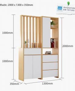 Kích thước tổng của kệ gỗ đa năng KG11