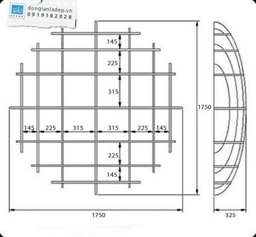 Kích thước của kệ sách treo tường KT705