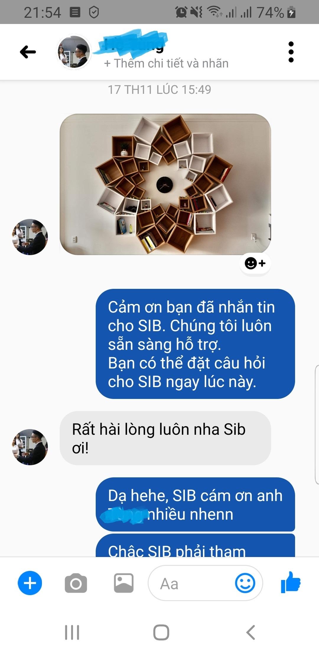 Khách hàng phản hồi/feedback về bộ kệ mandala KT703