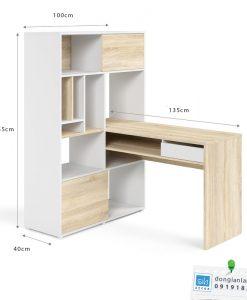 Kích thước của Bộ bàn làm việc và giá sách BLV40
