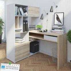 Bộ bàn làm việc và giá sách BLV40