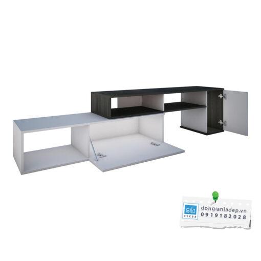 Kệ tivi thiết kế 2 cánh tủ tiện lợi