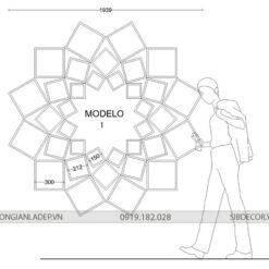 Modelo 1 - Bộ kệ kích thước nhỏ phù hợp với căn phòng diện tích nhỏ