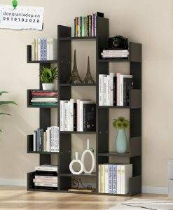 Kệ sách hình cây màu đen hiện đại