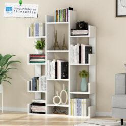 Kệ thiết kế nhiều ngăn, nhiều tầng cho khả năng để được rất nhiều đồ