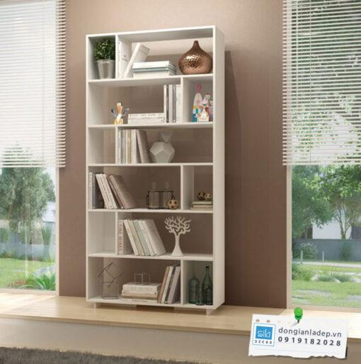 Tủ sách KS253 màu trắng hiện đại
