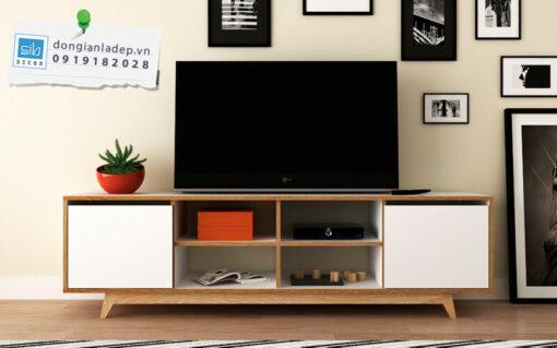 Chiếc kệ tivi để sàn cho phòng khách hiện đại
