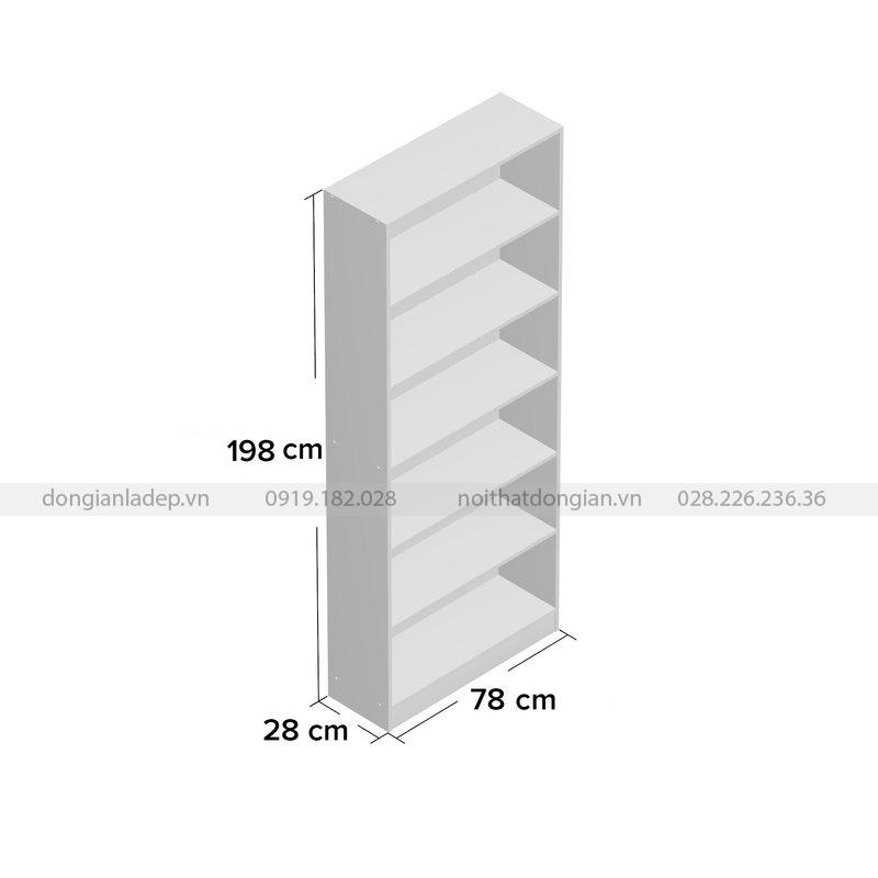Kích thước của Kệ sách KS237