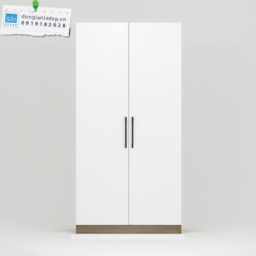 Tủ áo thiết kế đơn giản với 2 cánh mở