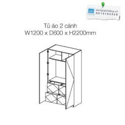 Kích thước của tủ áo An Cường TA02