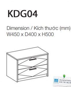 Kích thước chi tiết tủ đầu giường KDG04