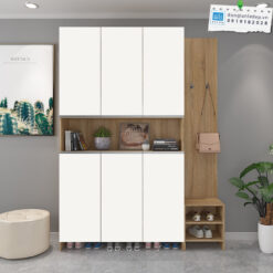 Kệ gỗ đa năng kết hợp giữa màu trắng và màu vân gỗ sồi hiện đại