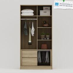 Các ngăn kệ được thiết kế đơn giản, tối ưu công năng sử dụng