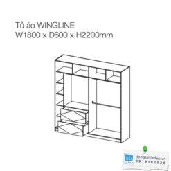 Kích thước của tủ quần áo Wingline TA05