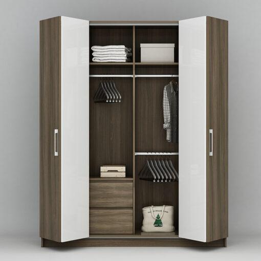 Thiết kế tủ áo 4 cánh cửa lùa kiểu Wingline phụ kiện cao cấp Hettich