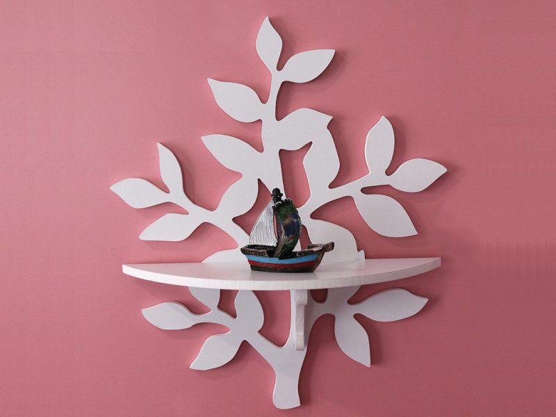 Kệ sách hình cây màu trắng