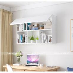 Kệ sách văn phòng 3 ngăn 2 tầng màu trắng