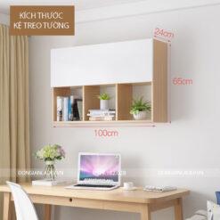 Kích thước tủ sách được thiết kế phù hợp với nhiều khổ tài liệu, sách vở và đồ vật