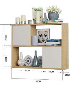 kích thước kệ 2 ngăn treo tường kích thước 80x65x24cm