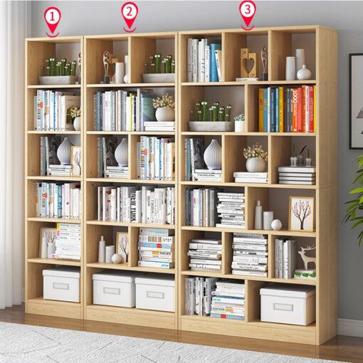 Bộ 3 kệ sách 3 kích thước khác nhau (KSG01, KSG02 và KSG03) màu vân gỗ sồi
