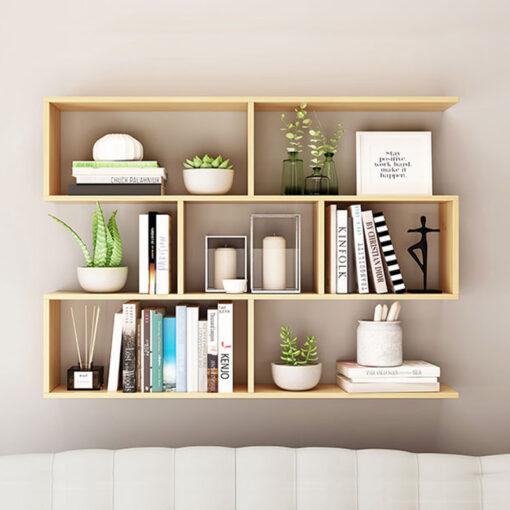 Kệ sách 4 tầng màu vân gỗ sồi