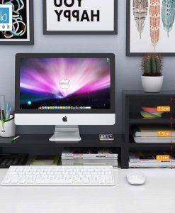 Kệ để sách và kệ để màn hình máy tính cho bàn làm việc gọn gàng