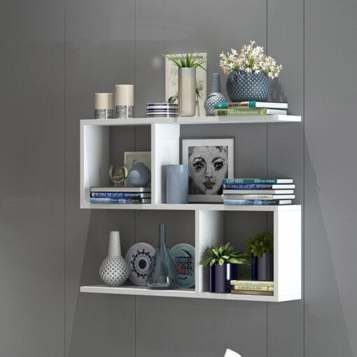 Kệ sách 3 tầng màu trắng 80x55x15cm