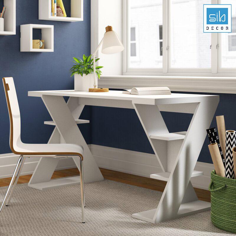Màu trắng tinh khôi, nhẹ nhàng bên góc phòng làm việc. Chiếc bàn thực sự là một điểm nhấn.