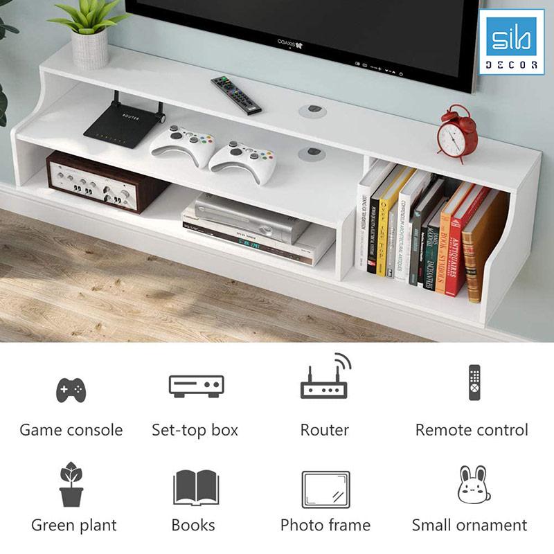 Chiếc kệ tivi đa ứng dụng: Để DVV, loa, game, sách, đồ trang trí...