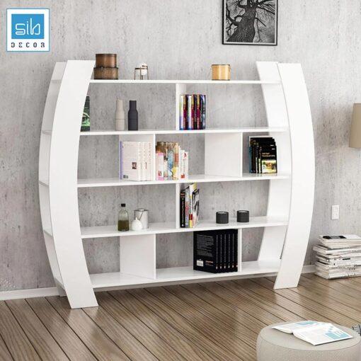 Kệ sách thiết kế 5 tầng với hệ 4 chân cách điệu